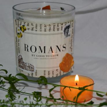 Our Romans candle is displayed here.