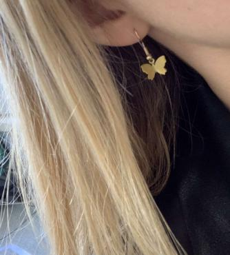 Here are our exclusive Gold Butterfly Earrings